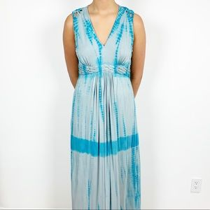 Sundance by Robert Redford Maxi Tie Dye Dress L